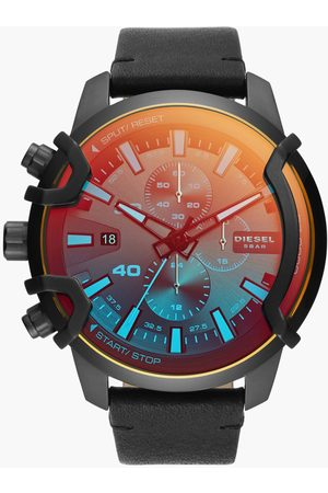 Diesel Men Chronograph Watch with Leather Strap - DZ4519