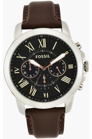 Fossil Men's Chronograph Watch with Leather Strap