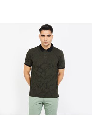 Fahrenheit Printed Slim Fit Polo T-shirt