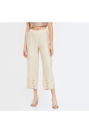 Global Desi Solid Elasticated Straight Pants