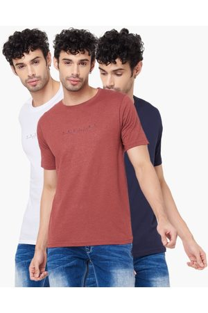 Proline Regular Fit Solid T-Shirt - Pack Of 3