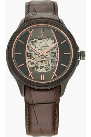 Titan Men Analog Watch with Leather Strap - 1793KL01