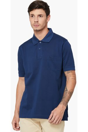 ColorPlus Regular Fit Solid Giza Polo Neck T-shirt
