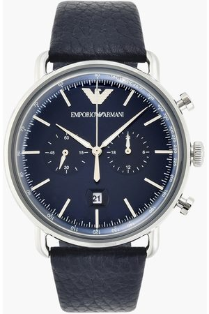 Armani EMPORIO Men Chronograph Watch with Leather Strap - AR11105