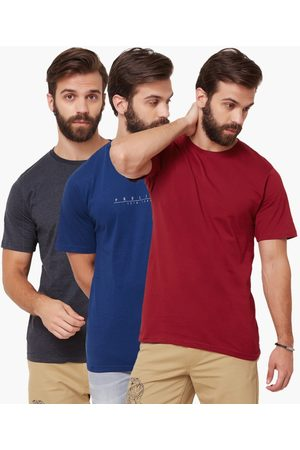 Proline Solid Crew Neck T-Shirt - Pack Of 3