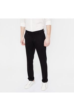 V Dot Solid Slim Fit Flat-Front Trousers