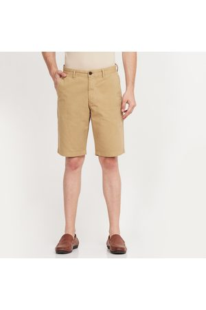 Indian Terrain Solid Regular Fit Shorts