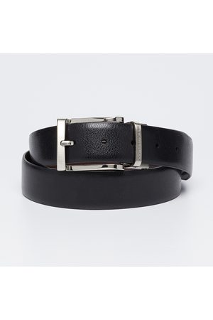 Louis Philippe Genuine Leather Textured Formal Belt