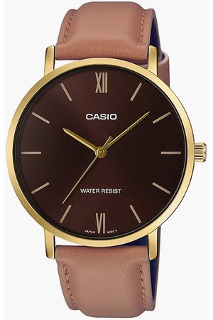 Casio Men Analog Watch with Leather Strap - A1783