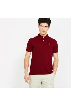 Fahrenheit Solid Slim Fit Polo T-shirt