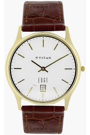 Titan Men Analog Watch with Leather Strap - NL1683YL01