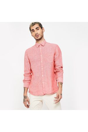 Parx Textured Full Sleeves Slim Fit Casual Shirt