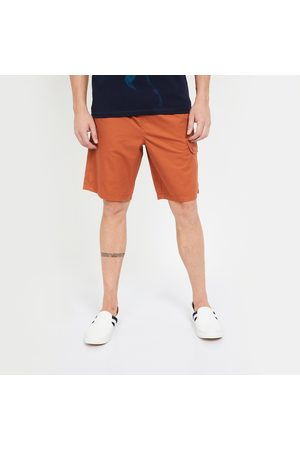 T-BASE Solid Regular Fit Cargo Shorts