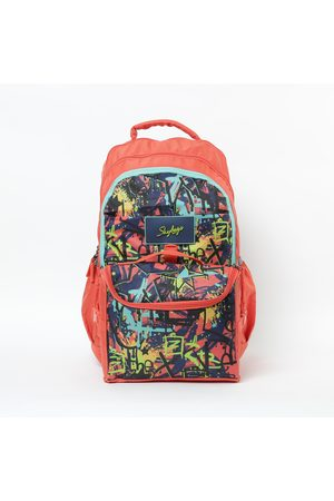 Sky Bags SKYBAGS Astro Extra 04 Printed Backpack with Insulated Lunch Bag