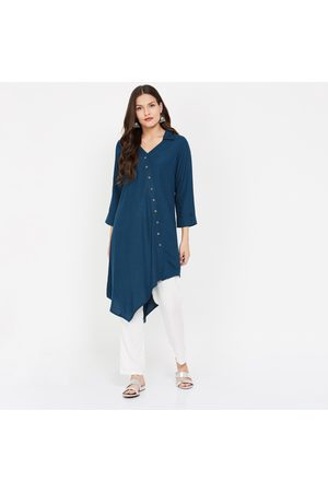 Global Desi Solid Asymmetric Kurta