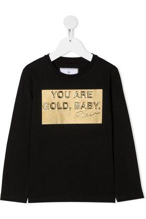 Philipp Plein Baby Long Sleeve - Gold, Baby long sleeved T-shirt