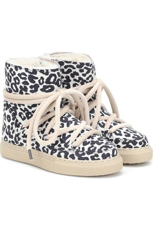 INUIKII Kids Sneaker leopard-print suede boots