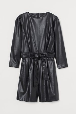 H&M Women Playsuits - Imitation leather playsuit
