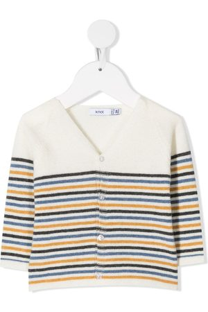 KNOT V-neck striped cardigan