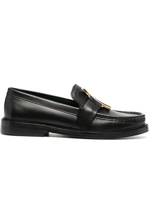 Moschino M plaque loafers