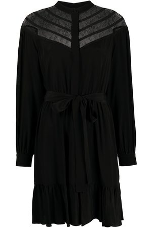 Twin-Set Chevron lace shirt dress
