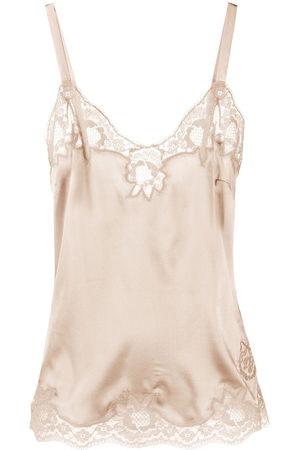 Dolce & Gabbana Floral lace-trim camisole