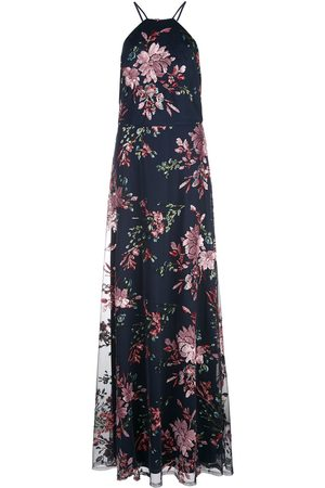 Marchesa Notte Floral sequined bridesmaid dress