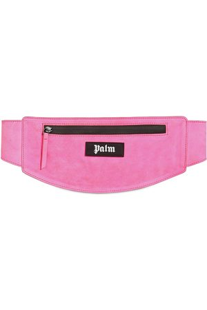Palm Angels Logo Patch Suede Belt Bag