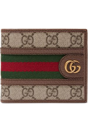 Gucci Ophidia Webbing-Trimmed Monogrammed Coated-Canvas and Leather Billfold Wallet