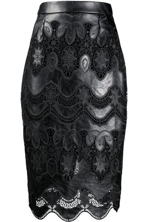 TALBOT RUNHOF Lace panel skirt