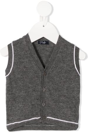 Il gufo Contrast-trim knitted vest