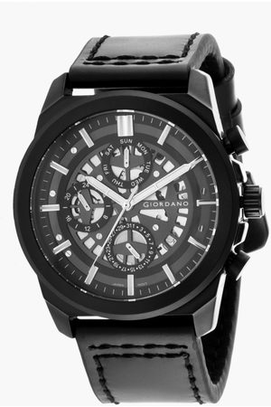 Giordano Men Analog Watch with Leather Strap - R1214-01