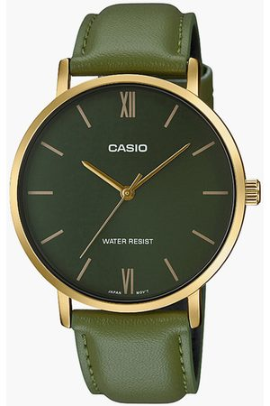 Casio Men Analog Watch with Leather Strap - A1782