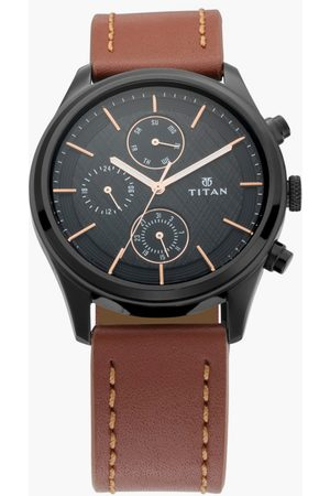 Titan Men Watches - Men Analog Watch with Leather Strap - NM1805NL01
