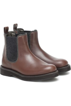 Brunello Cucinelli Leather Chelsea boots