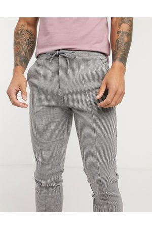 River Island Check joggers in