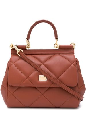 Dolce & Gabbana Women Tote Bags - Quilted leather tote bag