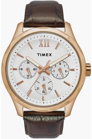 Timex Men Watches - Men Multifunction Watch with Leather Strap - TW0TG7600