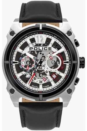 Police Men Watches - Men Analog Watch with Leather Strap - PL16020JSTB04W
