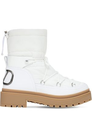 VALENTINO GARAVANI 40mm Nylon & Leather Snow Boots