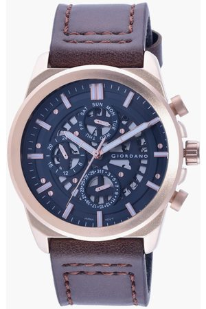 Giordano Men Watches - Men Analog Watch with Leather Strap - R1214-04
