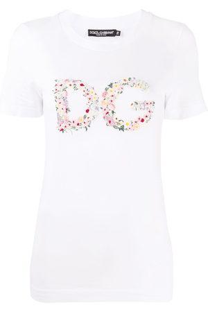 Dolce & Gabbana Women Short Sleeve - Floral-logo short-sleeve T-shirt
