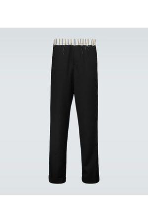 WALES BONNER Straight-fit virgin wool pants