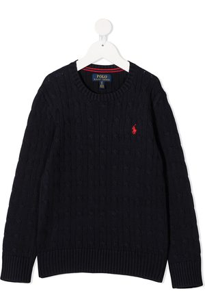 Ralph Lauren Jumpers - Logo-embroidered cable-knit jumper