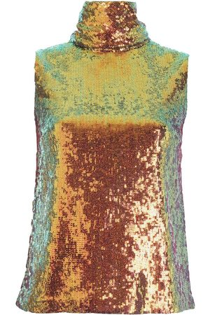 LAPOINTE Sequin-embellished high neck top