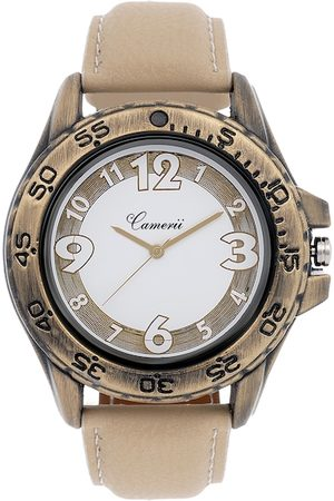 Camerii Men Off-White & Brown Dial Watch WM151