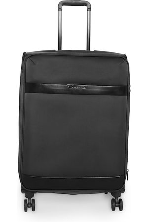 DKNY Unisex Black Solid Mens Ace Soft-Sided Cabin Trolley Suitcase