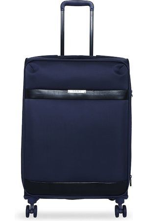 DKNY Unisex Navy Blue Solid Mens Ace Soft-Sided Medium Trolley Suitcase
