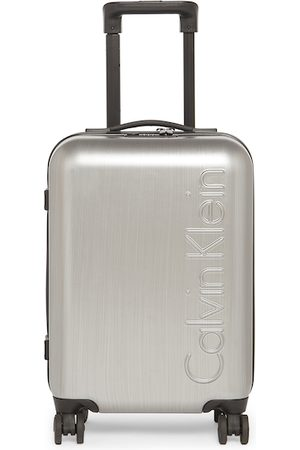 Calvin Klein Luggage - Unisex Silver-Toned Solid The Standard HS Hard-Sided Cabin Trolley Suitcase