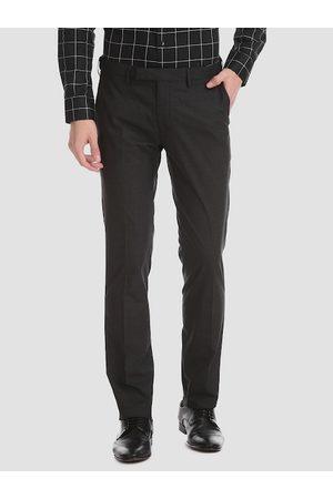 Ralph Lauren Men Black Slim Fit Solid Regular Trousers